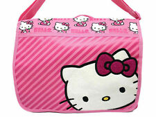 Sanrio Hello Kitty Messenger Diaper School Shoulder Bag Pink Stripes NEW