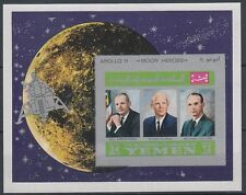 Yemen Kgr 1969 ** Bl.A167 B Weltraum Space Apollo 11 Armstrong Aldrin Collins