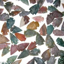 50 Arrowheads Bow Points Hunting Flint Stone Collection Free USA Shipping!