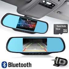 "5"" 16GB 1080P GPS Android Car DVR Dash Cam Bluetooth Rearview Mirror CAMERA H700"