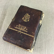 Antique Hebrew Book Bible Judaica Jewish Leather Bound Issac Lesser 1909 Vtg