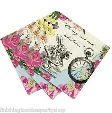 Truly Alice in Wonderland 20 Napkins Vintage Mad Hatters Garden Tea Party