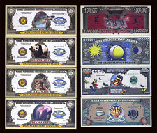 SET USA Fantasy 8 notes 2004, Endangered Species, Dragon, Butterfly, Sea Shell