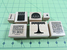 Stampin Up Two Step Stampin On A Pedestal Stamp Set of 7 Birthday Cake Sweet