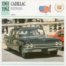 1961-1962 CADILLAC FLEETWOOD Classic Car Photograph / Information Maxi Card