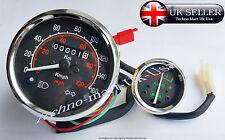 Royal Enfield Bala Velocímetro 0-160 km/h-m/ph & AMP Medidor Calibrador Dial Negro