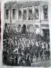 U S A LES POMPIERS DE NEW YORK 1868 SC 2374 ILLUSTRATION ANCIENNE