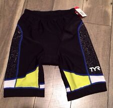"""TYR Men Tri Shorts 9"""" Size Small New"""