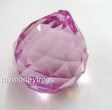 40mm PINK Crystal Feng Shui Faceted Lamp Part Prism Glass Ball Chandelier Charm