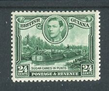 British Guiana KGVI 1938-52 24c blue-green SG312 (wmk upright) LMM