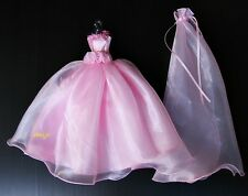 Wedding Gown Party Outfit Handmade Clothing for Barbie Dolls Dress Clothes Pink