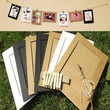 7pcs Paper Photo Flim DIY Wall Picture Hanging Frame Album+Rope Frames Set 7inch