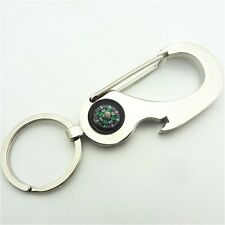 Metal Carabiner Bottle Opener Keyring Gift Beer