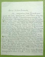 Handschriftlicher Brief Dudovich, Marcello Dudovich, Simpilicissimus Dudovich,