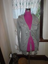 Amazing All Saints Lumix Hoodie Cardigan Brown Size 10 Excellent Condition