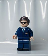 A1013 Lego CUSTOM PRINTED Shield INSPIRED AGENT COULSON MINIFIG with dual head