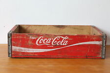 Vintage red Coca Cola wooden soda crate - Free UK delivery