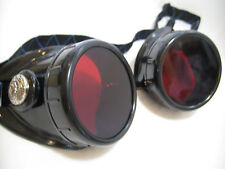 Pro Steampunk Astronomer & Meteorology Red Dark Adapter Safety Goggles Glasses