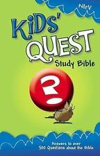 NIrV, Kids' Quest Study Bible, Hardcover: Real Questions, Real Answers New Inte