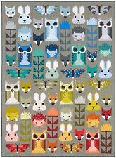 Fancy Forest by Elizabeth Hartman Animal Quilt Pattern ~ Hedgehog Owl Fox Bunny