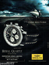 PUBLICITE ADVERTISING 125  2011  BREITLING  la montre NAVITIMER royal quartz