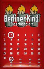 Blechschild Berliner Kindl Magnet Kalender Biere Schild Dauerkalender 20x30 cm