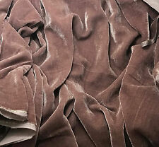 "Silk VELVET Fabric MAUVE fat 1/4 18""x22"" remnant"