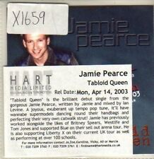 (CQ657) Jamie Pearce, Tabloid Queen - 2003 DJ CD
