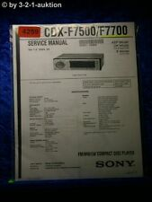 Sony Service Manual CDX F7500 /F7700 CD Player (#4259)