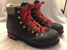 Vtg Raichle Extreme Mountaineering Hiking Leather Boots 11.5 Made in Switzerland