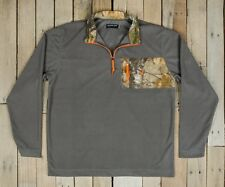 NWT Southern Marsh 1/4 Zip Fleece FieldTec Gray Camouflage Pullover Small