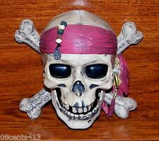 Disney's Pirates Of The Caribbean 3 Battery Operated Talking Skull Room Alarm