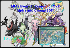 18 Evento Pokemon incluye hoopa, Mew, Arceus, Meloetta & Otros Para Xy y or-as