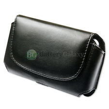 Genuine Leather Pouch Belt Clip Phone Case for LG Transpyre/Tribute/Realm