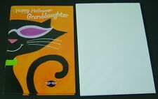 5 Happy Halloween Greeting Cards With Envelopes for Granddaughter - Black Cat