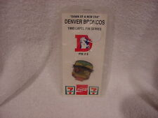 BEAUTIFUL Denver Broncos vs. Indianapolis Colts 1993 SGA Pin #6, MINT W/CARD!!