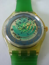 SAK102 Swatch - 1991 Automatic Time To Move Earth Summit Swiss Made Authentic