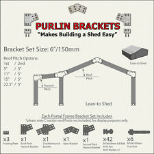 Lean-to Shed 6inch C Section Purlin Bracket Set-Garage-Farm-Steel Plate