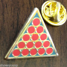 Snooker Triangle and Balls 147 Award Enamel Lapel Pin Badge