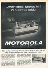 1962 Motorola Hi-Fi Stereo Console - Original Advertisement Print Ad J126