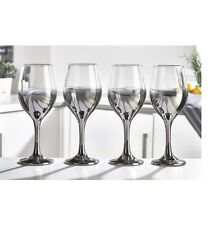 Set Of 4 ombre-effect silver Wine Glasses