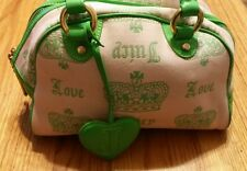 JUICY COUTURE PINK AND LIME LADIES HANDBAG / PURSE VGC