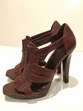 Jessica Simpson Striker Women's Pump Sandal Stiletto Zipper Shoes Size 8 B