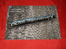 "Toyota Land Cruiser + land cruiser v8"" 60th Anniversary ""folleto de 2011"