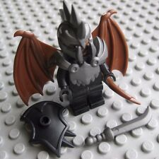 Lego Custom DEVIL Demon Minifigure with Brickwarriors Armor Wings Helmet Weapons