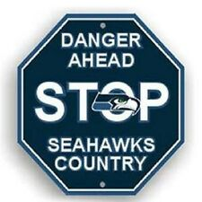 NFL Seattle Seahawks Stop Sign Room Bar Decor NEW 12 x 12