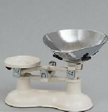 Traditional Victor Cast Iron Balance Kitchen Scales / Scale Cream and Chrome