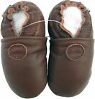 carozoo solid brown 12-18m soft sole leather baby shoes