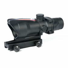 High Quality Sports ACOG Style 1x32 Red Dot Sight Scope with Optic Fiber