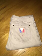 Louis Vuitton Mens Jeans Denim Light Beige With Lv Logo Size 32 Sl
